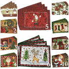Внешний вид - Tache 4 PC Festive Winter Holiday Christmas Xmas Woven Placemats Table Linen