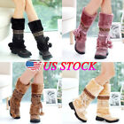 Fashion Women's Winter Warm Boots Anti-slip Flat Shoes Casual Suede Snow Boots