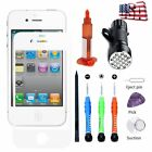 For iPhone 4s 4 Front Touch Glass Lens Screen Replacement Repair Tools Kit Glue