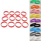 1 Dozen Rubber Silicone Bracelet Blank Wristbands Sports Basketball Wrist Bands