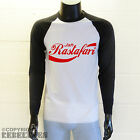 Jah Rastafari Baseball T-Shirt - cola parody long sleeves sleeved reggae top