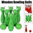 Wooden Bowling Ball Kid Toy Anti-stress Children Boys Girl Adult Game Toy Gift