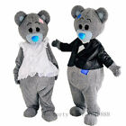 Teddy Bear Mascot Costume Enjoy Game Amazing Adult Birthday Party Dress Worth