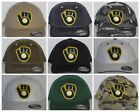 "Milwaukee Brewers ""FLEXFIT"" Cap ✨HAT ✨MLB PATCH/LOGO ✨3 SIZES / 14 COLORS ✨NEW"