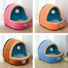 Pet Dog Cat Warm Bed House Puppy Cushion Soft Warm Kennel Nest Folding Cave Mat