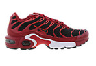 NIKE AIR MAX PLUS TN WOMEN/BOYS/GIRLS TOUGH RED/BLACK-CHILE RED TRAINER ALL SIZE