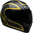 Bell Adult Black/Gold Flake Qualifier Scorch Motorcycle Full Face Helmet DOT ECE