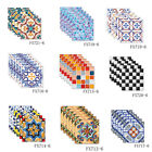 6/12pcs Ceramic Tile Stickers Pvc Self Adhesive Stickers Living Room Kitchen Fje