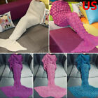 US Super Soft Warm Hand-Crocheted Mermaid Tail Blanket Sofa Blanket Chrismas image
