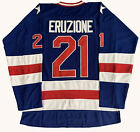 Mike Eruzione 21 Blue 1980 Miracle On Ice Team USA Hockey Jersey All stitched