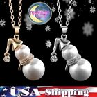 Necklace Cat Moon Pendant Charm Jewelry Chain Silver Gold Christmas Gift Us