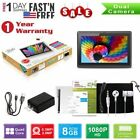 "7"" Quad Core Android 4.4 8G Tablet Dual Camera 1.3 GHz Bundle Case for Kids Gift"
