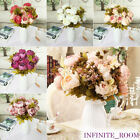 Party Home Decor 13 Heads Vintage Artificial Fake Peony Silk Flowers Bouquet