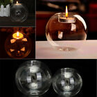6-36X Clear Glass Tea Light Candle Holder Bauble Sphere Ball Shaped Wedding Xmas