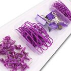 STATIONARY ACCESSORIES SETS Paper Binder Bulldog Clips Push Pins Office Supply