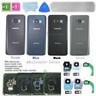 OEM For Samsung Galaxy S8 & S8 Plus Back Glass Cover IP68 & Camera Lens & Tape
