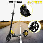Adult Foldable 3 Levels Adjustable Height 2-Wheel Kick Scooter Rear Suspension