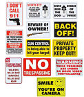 Assorted Home & Office Protection Crime Deterrent Security Warning Signs