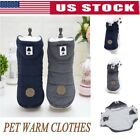 Pet Dog Cotton Padded Hooded Coat Puppy Winter Warm Jumper Jacket Sweater S-XXL