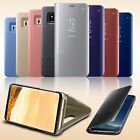 Samsung Galaxy S7 Edge S8,S8+ S9,S9 + Smart View Mirror Leather Flip Stand Case