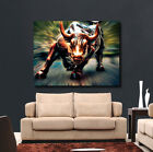 Wall Street Bull Market Art - Canvas or Glossy - Pick Size- Wolf of Wall Street