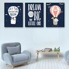 Hot Air Balloon Painting Poster Art Canvas Home Office Decoration DIY 3 sizes