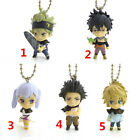 Anime Black Clover rubber Keychain Key Ring Straps Rare cosplay