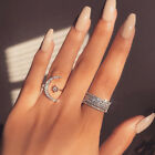 Uk Womens Girl Fashion Moon Star Ring Party Rings Wedding Jewelry Gift Wedding