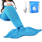 LAGHCAT Mermaid Tail Blanket Crochet For Kids, Daypack & Necklace, Princess