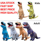 Inflatable T-Rex Dinosaur Costume Adult/Kid Halloween Blow Up Suit Fancy Dress