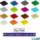 Внешний вид - 100% Lego 2x2 Stud Plate Various Colors You Pick Black White Red Green Blue Tan