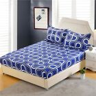 1pc Polyester Fitted Sheet Mattress Cover Printing Bedding Four Corners With Ela image