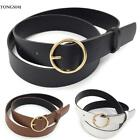 Women Fashion Solid Round Shape Buckle Waist Belt O041