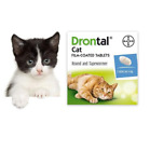 8-48 Tabs New Bayer Drontal for Cats & Kittens Tapeworm Deworming USA Seller