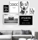 Fashion Art Black & White Scandi Art Girl in bathroom trendy wall art print