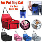 Folding Pet Dog Car Seat Cover Carrier Bag Basket Strap Travel Carry Handbag Pad