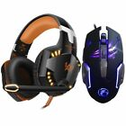 Stereo Gaming Headset for PS4 Deep Bass Computer Game Earphone With LED Light