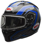 Bell Adult Blue/Black/Grey Dual Lens Qualifier Reflective Snowmobile Helmet Snow