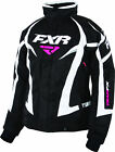 FXR Womens Black/White Team Insulated Snowmobile Jacket Snocross