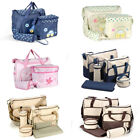 Baby Nappy Diaper Changing Bag Handbag Bottle Holder Change Mat Mummy Bag