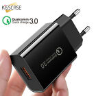 KISSCASE QC 3.0 30W Fast Quick Charge 3 Port USB Wall charger adapter US EU Plug