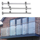 Stainless Steel Balustrade Posts Mid / Corner / End Grade Glass Clamps + Base
