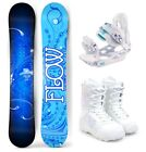 2019 FLOW Star 140cm Women's Snowboard+M3 Bindings+M3 Boots Package NEW