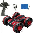 360° Rotate Remote Control Car RC Stunt Water&Land Driving Electric Toy For Kids