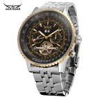 Jaragar Brand Stainless Steel Day Date Tourbillon Automatic Mechanical Men Watch