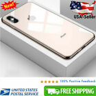 For iPhone XS Max XR Luxury 9H Hard Tempered Glass Case Mirror Glass Back Cover