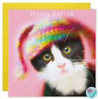 Funny Cat Kitten Birthday Cards Sister Niece Girlfriend Wife knitted Bunny Ears
