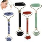 Natural Jade Guasha Facial Massage Jade Roller Face Body Massager Tool -Two Head