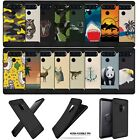 For (LG V40 ThinQ) Unique Art Black TPU Bumper Carbon Fiber Flexible Case