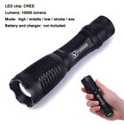 5000 to 15000 Lumens LED Flashlight Police Swat Outdoor Torch Battery Charger